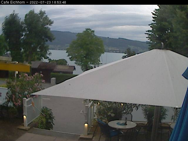 Weyregg am Attersee lake view from the cafe Eichhorn Live Cam, Austria